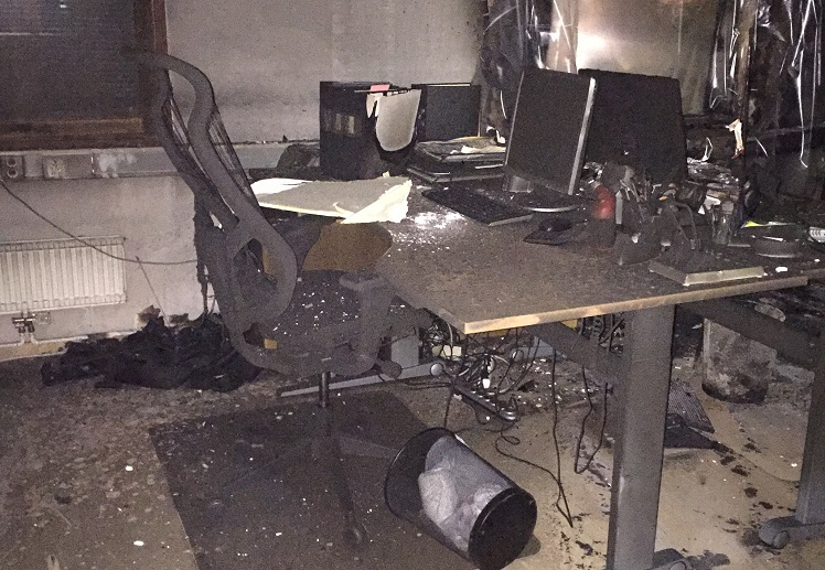 Arson in the office of Aramean youth federation | Bahro Suryoyo